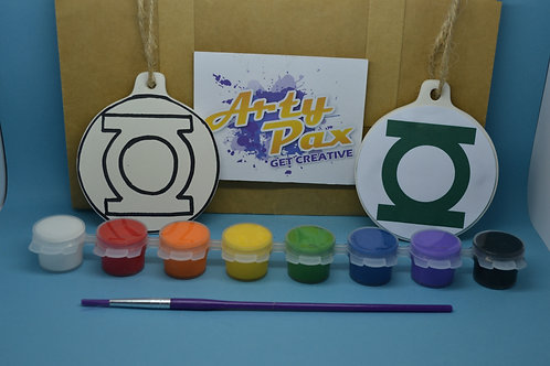 Paint Your Own Green Lantern Decoration Kit