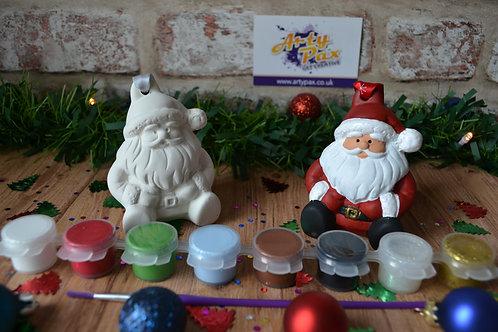 Paint Your Own Santa 3d Ceramic Bauble Kit