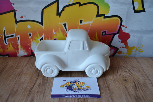 Ready To Paint Ceramic Pickup Truck 3D Freestanding Vehicle