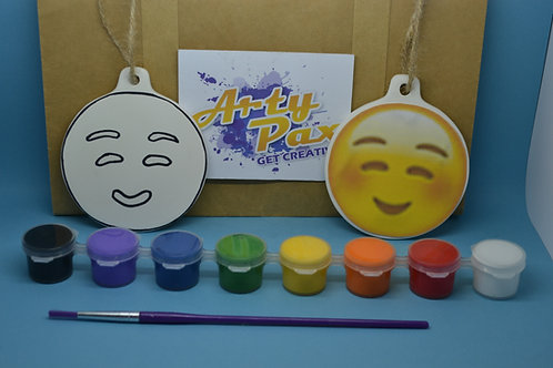 Paint Your Own Smiley Face Emoji Kit