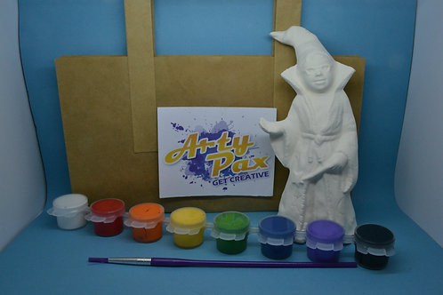 Paint Your Own Wizard Figure Kit