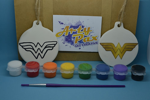 Paint Your Own Wonder Superhero Woman Decoration Kit