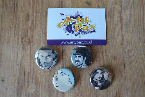 Wynonna Earp Comic Set Of 4 3cm Badges Buttons Sci-Fi Western