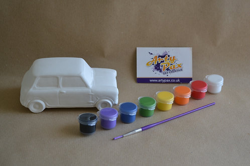 Paint Your Own Mini Car Kit