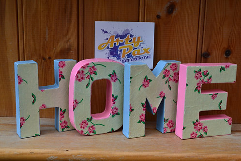 Personalised Floral Home Letters Custom Name/Word