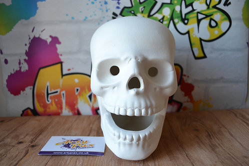 Ready To Paint Skull Life Size Ceramic 3D Freestanding Figure