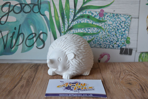Ready To Paint Hedgehog Ceramic 3D Woodland Animal