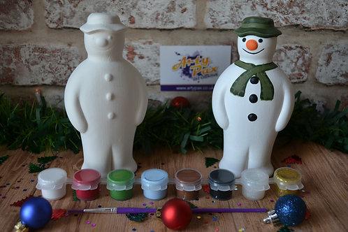 Paint Your Own The Snowman Ceramic Figure Kit