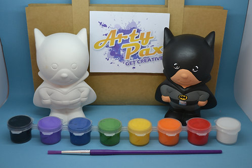 Paint Your Own Bat Man Superhero Figure Kit