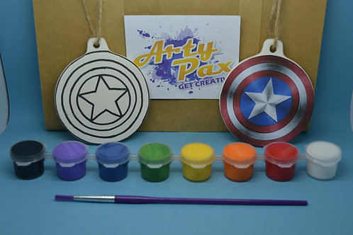 Paint Your Own Captain America Shield Decoration Kit