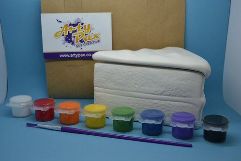 Paint Your Own Cake Slice Box Kit