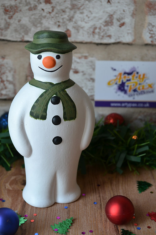 The Snowman Hand Painted Christmas Ceramic Figure Decoration