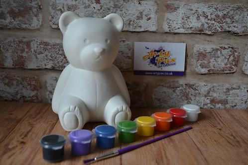 Paint Your Own Teddy Money Bank Kit