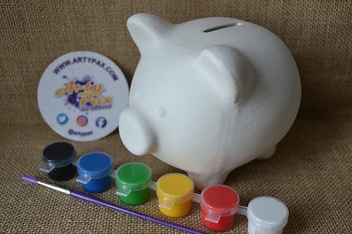 Paint Your Own Piggy Money Bank Kit