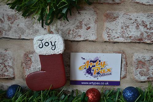 Personalised Name/Word Christmas Stocking Hanging Tree Decoration