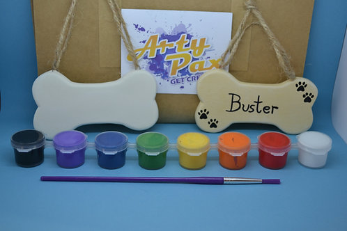 Paint Your Own Dog Bone Pet Name Sign Kit