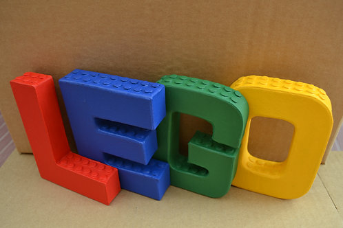 Personalised Lego Letters