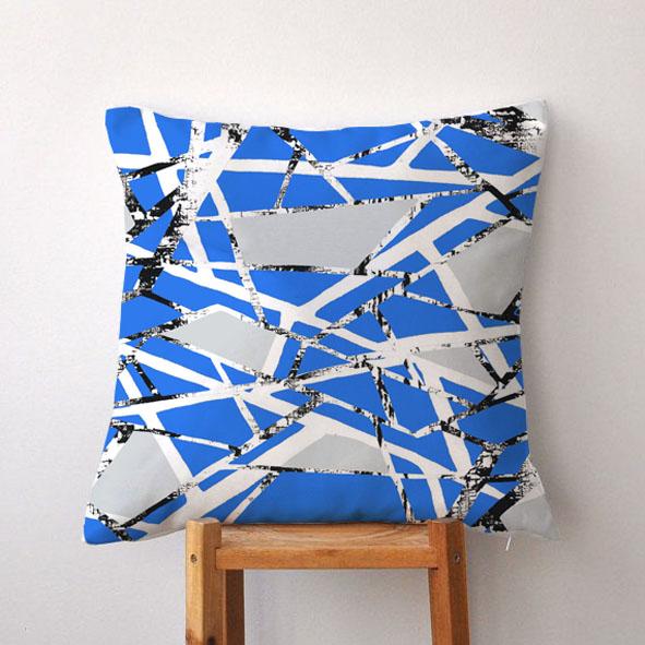 EVRS - Blue Web Cushion