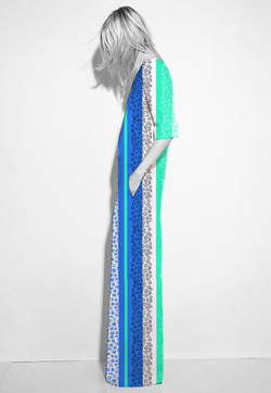 EVRS - Berry Stripe Jumpsuit