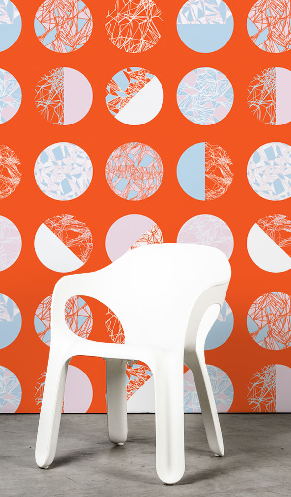 EVRS - Orangle Circles Wall