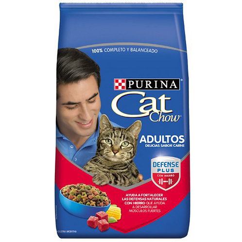 Cat Chow ADULTOS ACTIVOS Carne FortiDefense