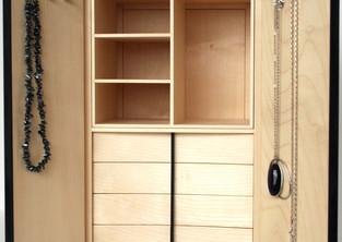 Necklace storage cabinet