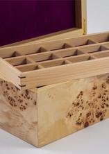 Jewellery box in poplar burr wood