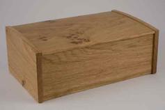 English oak curved lid jewellery box