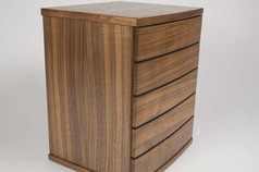 'Hastings' curved front jewellery chest of drawers