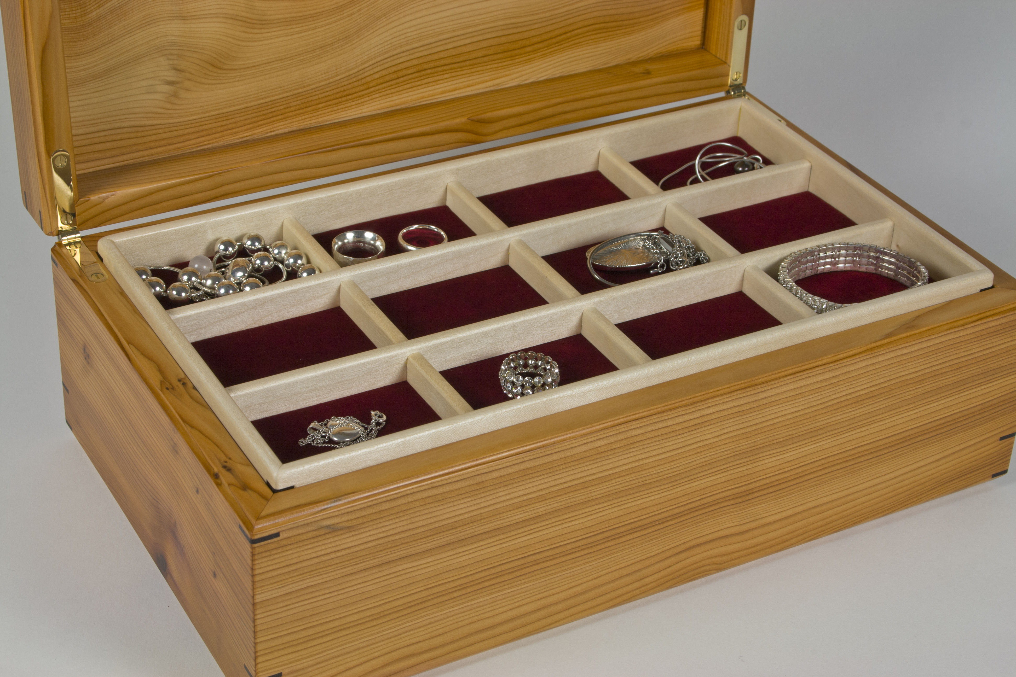 The trays with jewellery