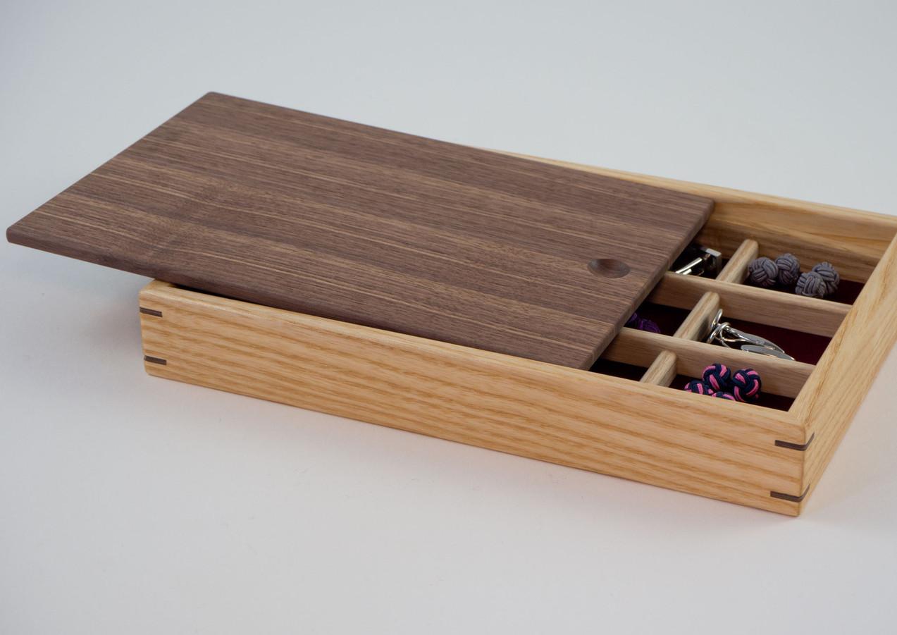 Cufflink storage box