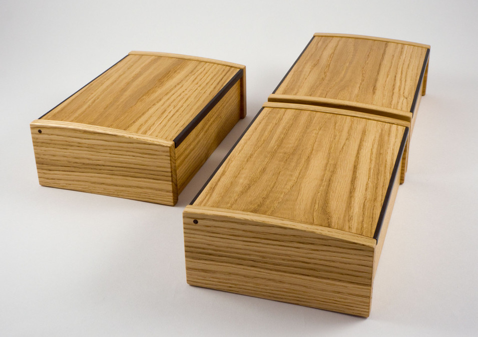 handmade box in oak