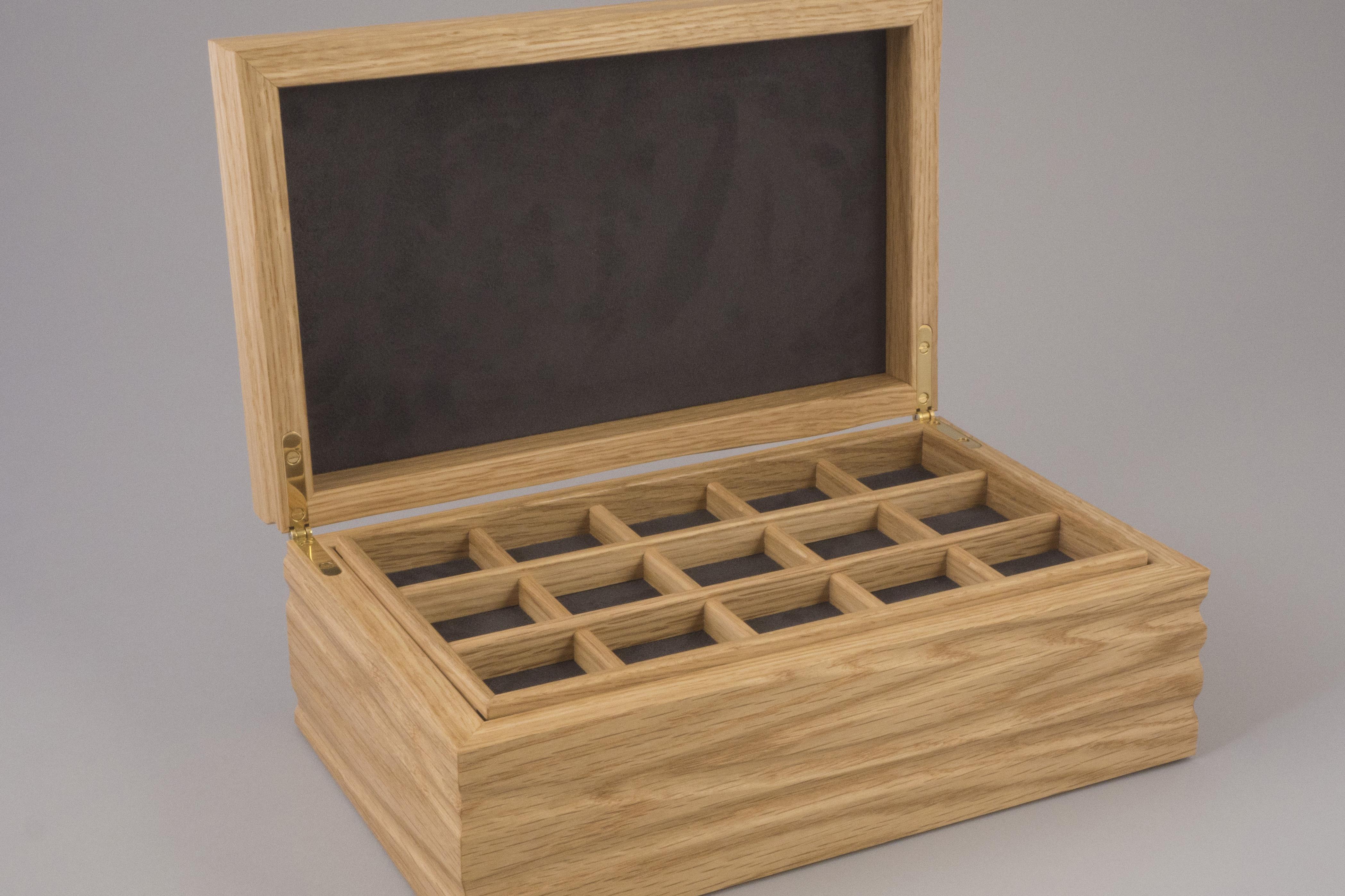 Flow II - Oak jewellery box