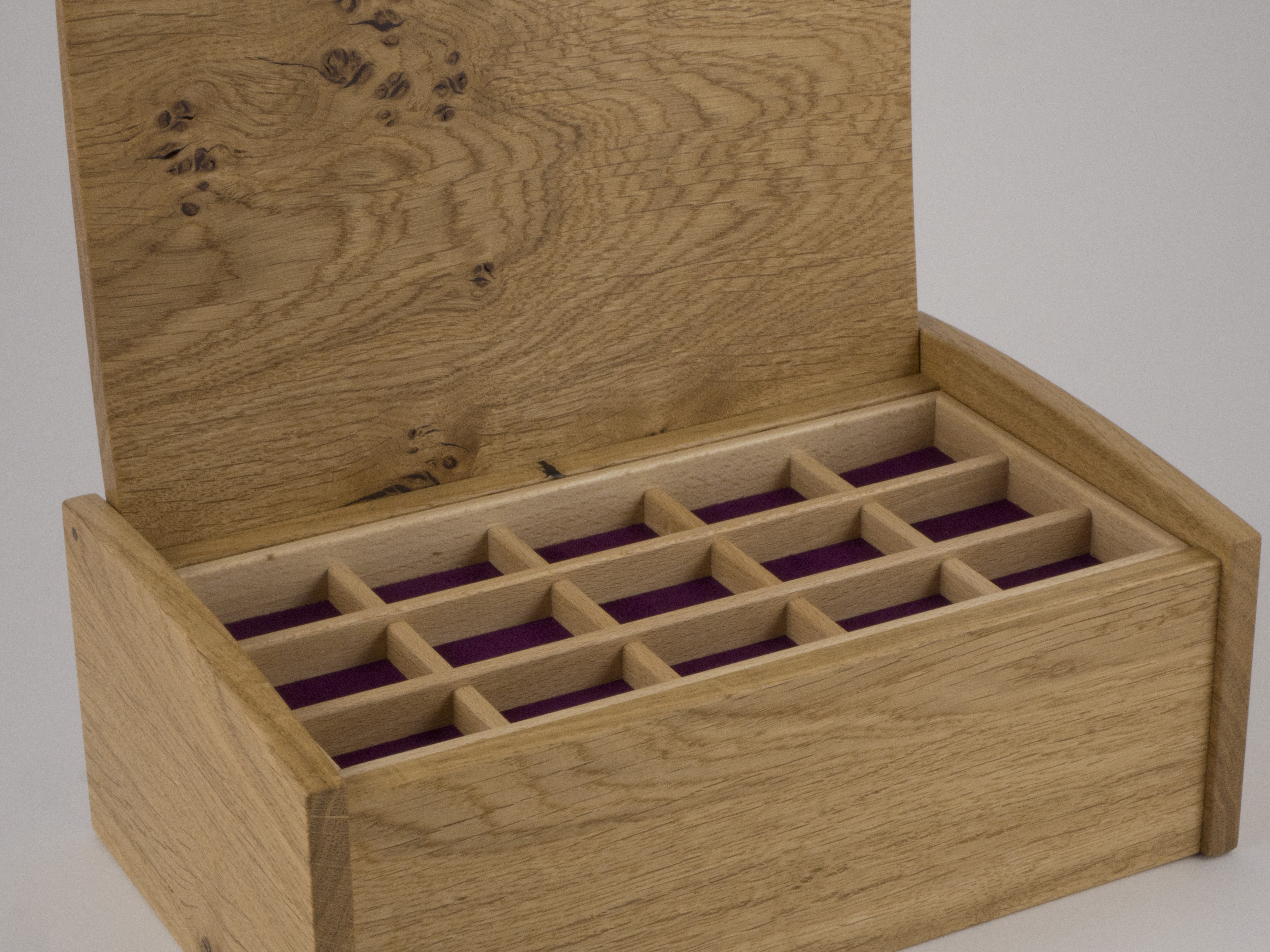Inside the box are removable trays