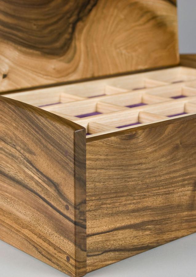 Bespoke jewellery box in walnut