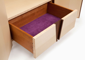 Close-up of the drawer.