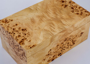 Poplar burr jewellery box