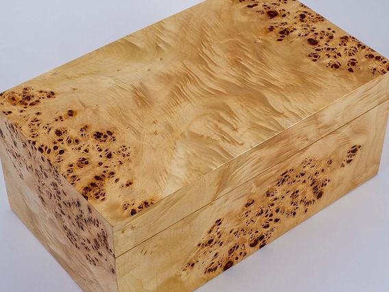 Jewellery box made from poplar burr
