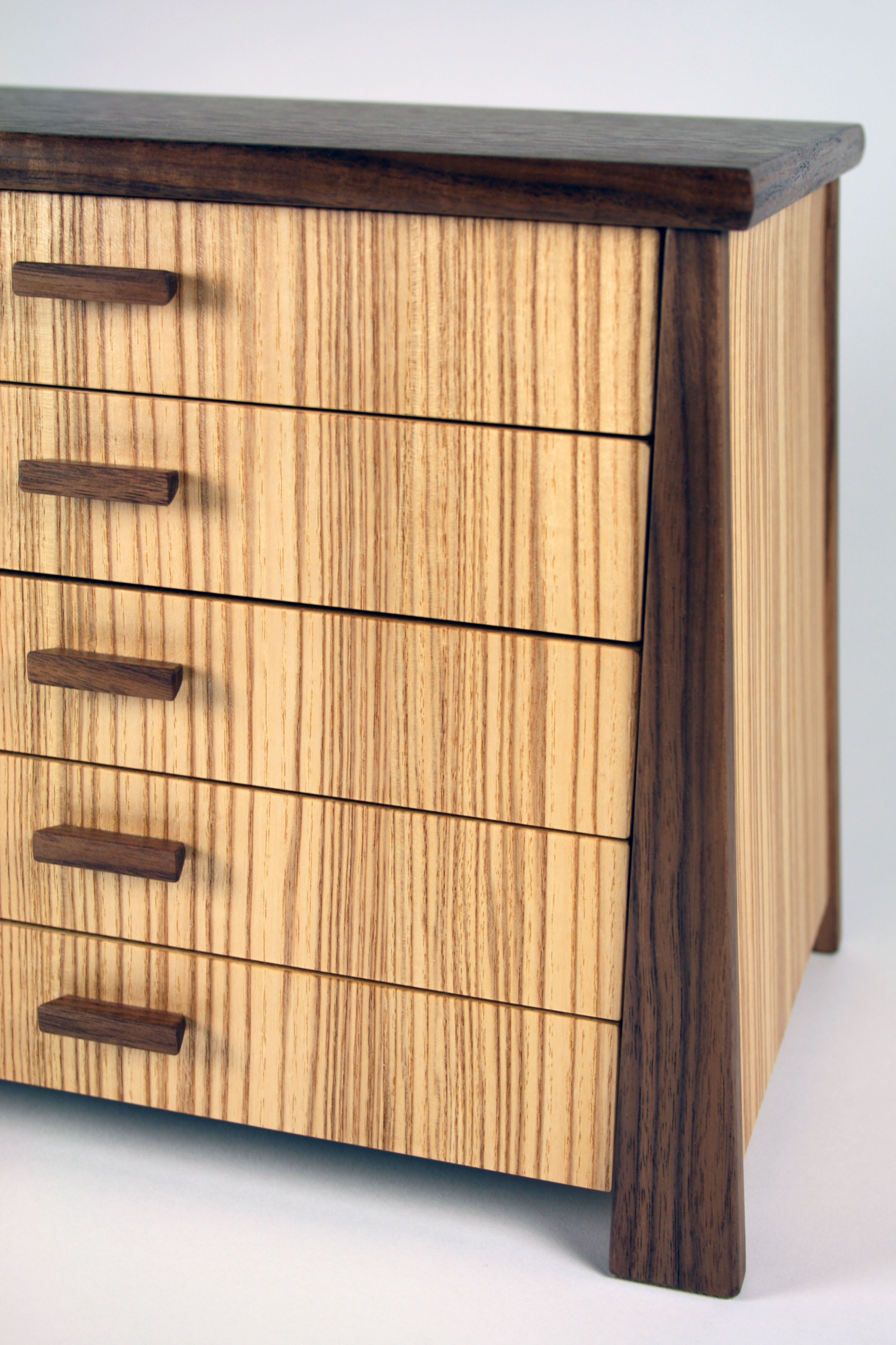 Close up of olive ash chest