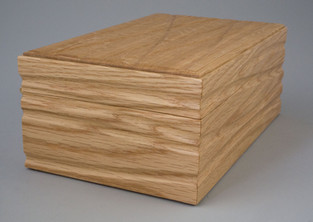 Textured surface wooden box