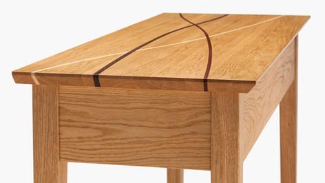 Oak winding-paths hall table
