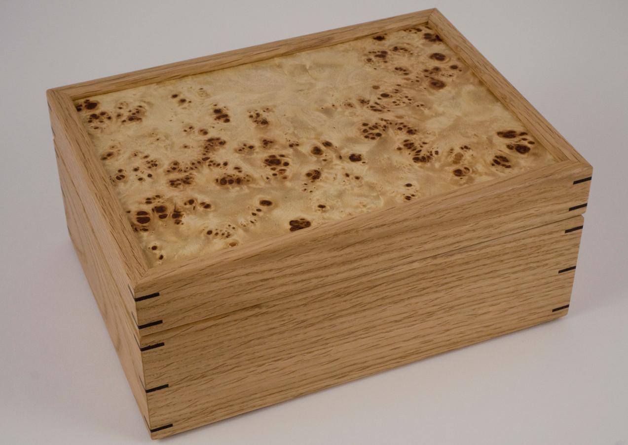 Poplar burr lid on box
