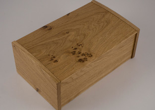 The box is made from character wood