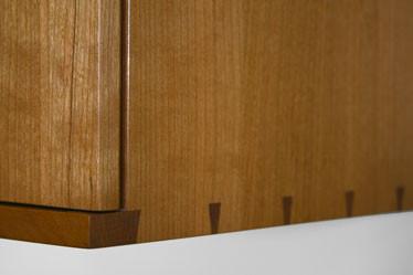 Coopered door wall cabinet