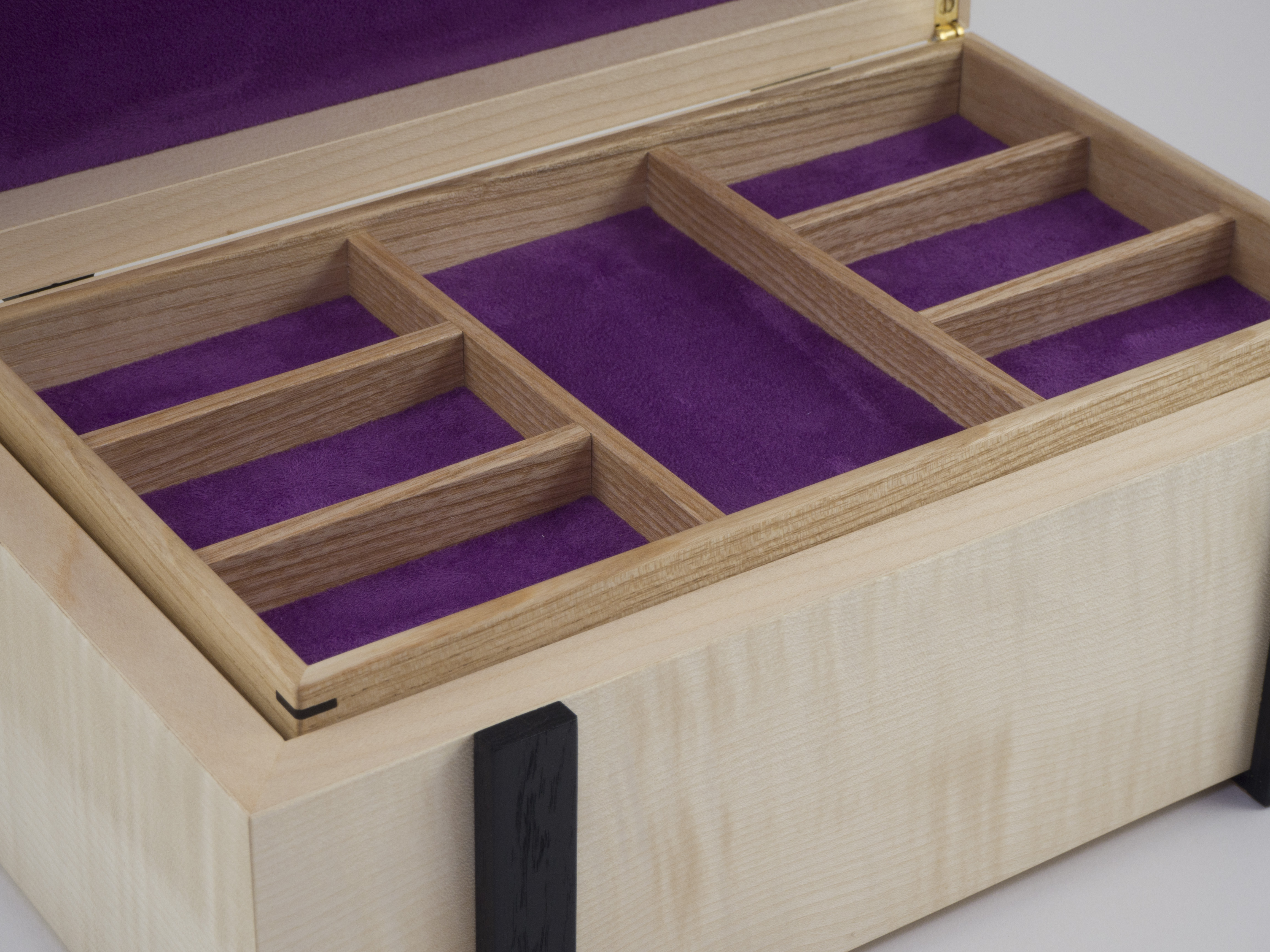 Close-up of jewellery storage tray