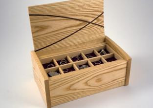Jewellery storage trays in the box