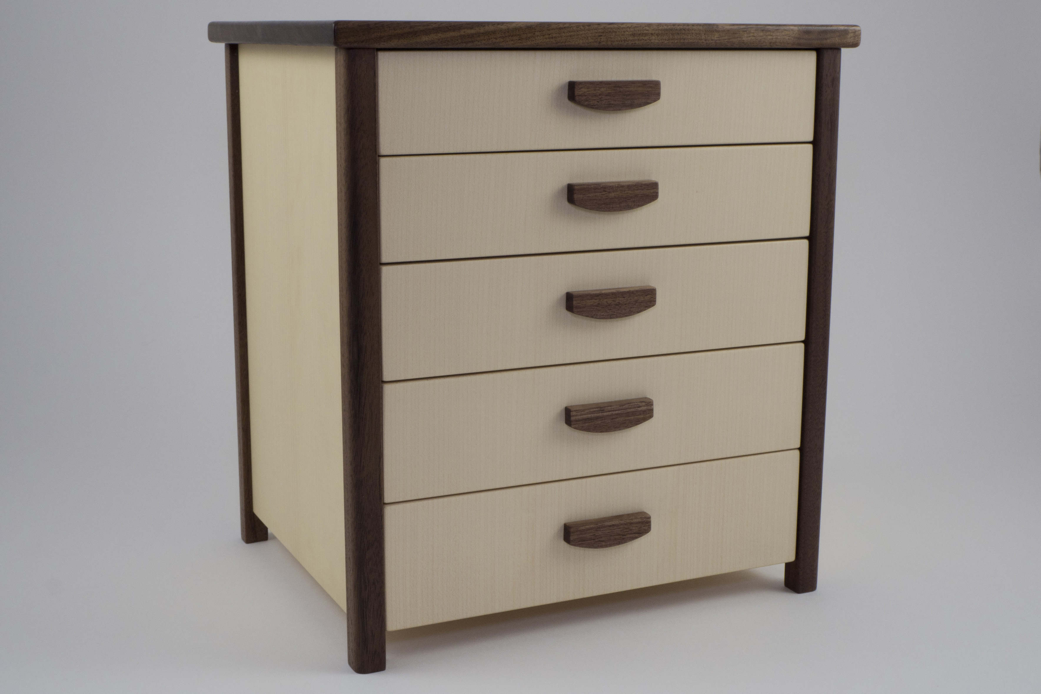 Sycamore jewellery chest