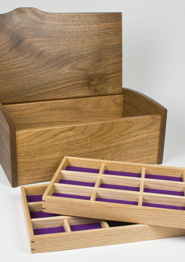 Jewellery box with two trays