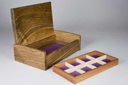 English walnut jewellery box - 'little sister'