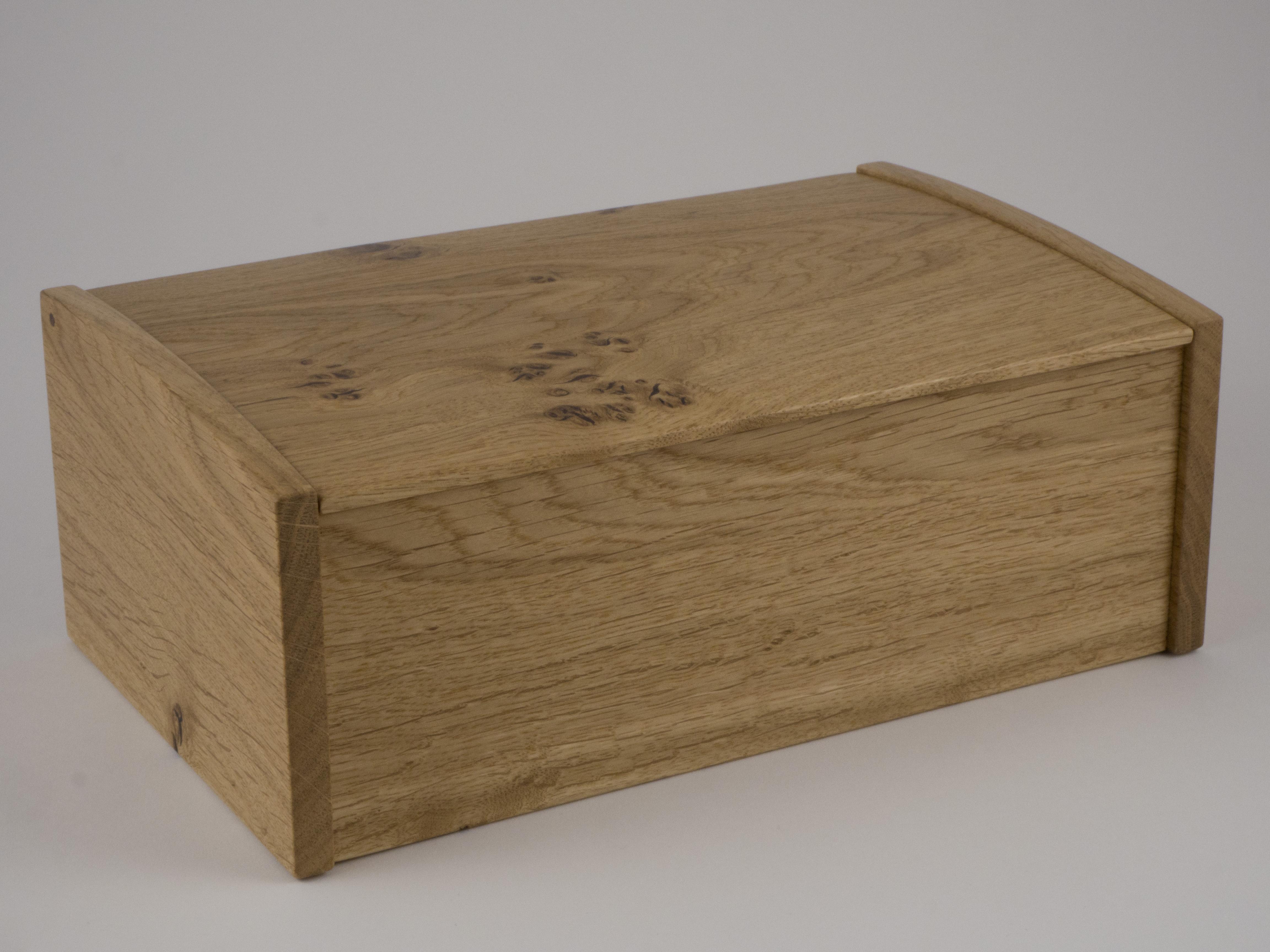 Jewellery box made from English oak